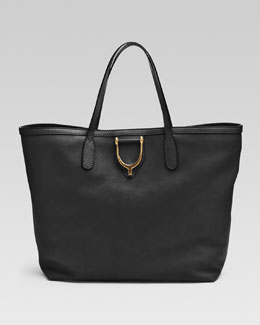 Gucci Soft Stirrup Medium Tote Bag, Black