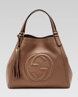 Gucci Soho Leather Shoulder Bag, Brown