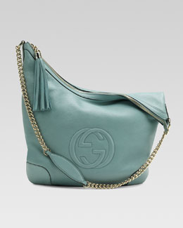 Gucci Soho Leather Chain-Strap Shoulder Bag, Splash