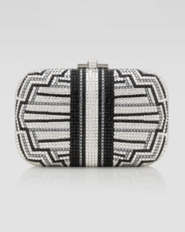 Judith Leiber Charleston Striped Clutch Bag