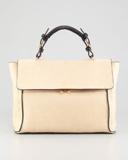 Marni Studded Front-Flap Tote Bag
