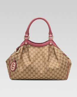 Gucci Sukey Medium Original GG Canvas Tote, Soft Rose