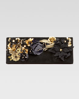 Gucci Embroidered Broadway Evening Bag, Black
