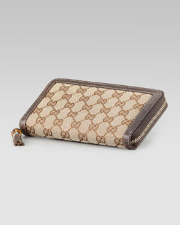 Gucci Tassel Original GG Zip-Around Wallet