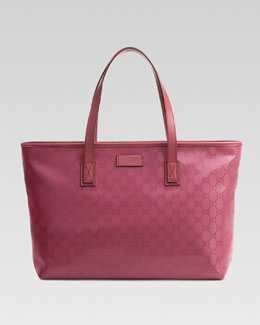 Gucci GG Medium Imprimee Tote Bag, Vintage Rose
