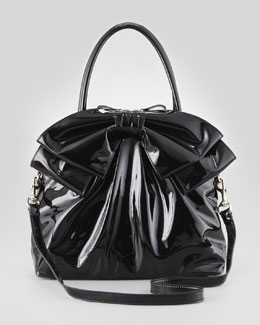 Valentino Lacca Dome Bow Bag, Black