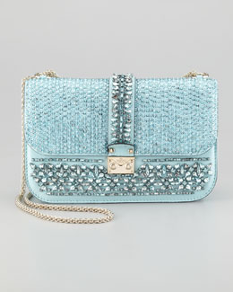 Valentino Glam Lock Flap Shoulder Bag