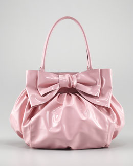 Valentino Double-Handle Lacca Bow Bag