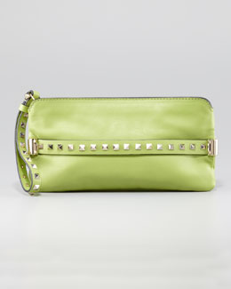Valentino Rockstud Wristlet Clutch Bag, Pop Apple