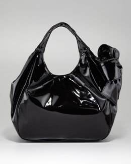 Valentino Nuage Lacca Medium Tote Bag, Black