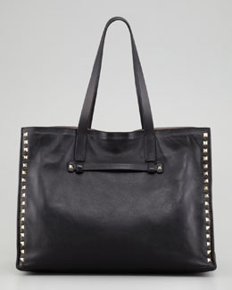 Valentino Rockstud Medium Tote Bag, Nero