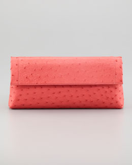 Nancy Gonzalez Ostrich Clutch Bag, Pink