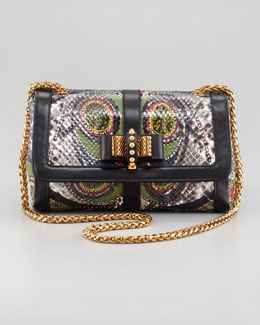 Christian Louboutin Sweet Charity Paisley Python Shoulder Bag