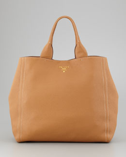 Prada Daino New Large Tote Bag, Naturale