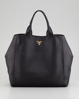 Prada Daino New Large Tote Bag, Nero