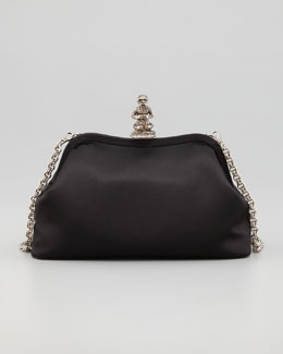 Prada Monkey Satin Shoulder Bag, Black