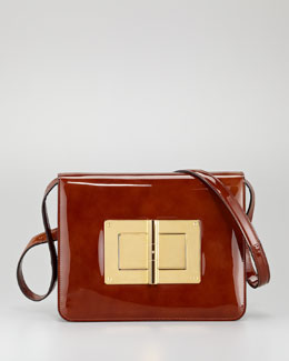Tom Ford Natalia Large Turn-Lock Shoulder Bag, Caramel