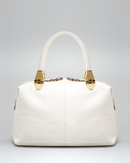 Tom Ford Natasha Ivory Calfskin Satchel Bag