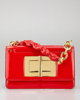 Tom Ford Maxi Chain Large Patent Shoulder Bag