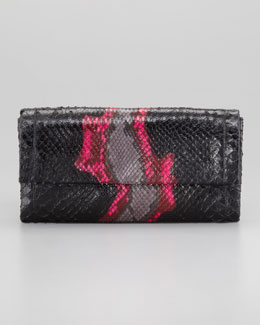 Nancy Gonzalez Python Clutch Bag, Fuchsia