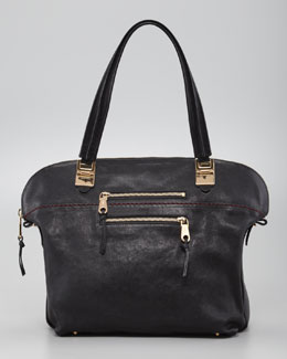 Chloe Angie Medium Shoulder Bag, Black