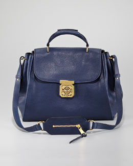 Chloe Elsie Medium Shoulder Bag, Capri Night