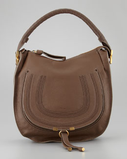 Chloe Marcie Medium Hobo Bag, Brown Seed