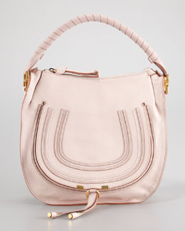 Chloe Marcie Medium Hobo Bag, Nude Pink