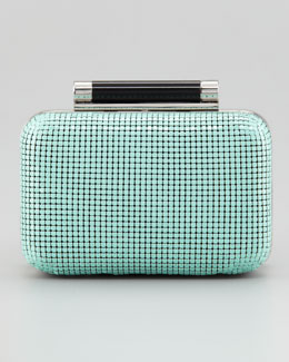 Diane von Furstenberg Tonda Small Chain Mail Clutch Bag, Turquoise