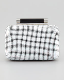 Diane von Furstenberg Tonda Small Chain Mail Clutch Bag, White
