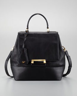 Diane von Furstenberg 440 Top-Handle Small Satchel, Black