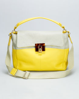 Lanvin For Me Medium Bag, Sea Green/Yellow