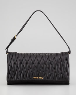 Miu Miu Matelasse Shoulder Bag, Black