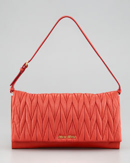 Miu Miu Matelasse Shoulder Bag, Lacca