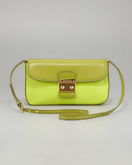 Miu Miu Madras Bicolor Shoulder Bag, Lime/Felca