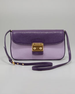 Miu Miu Madras Bicolor Shoulder Bag, Glycine/Viola