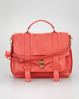 Proenza Schouler PS1 Large Satchel Bag, Deep Coral
