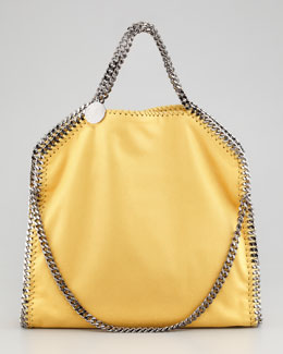 Stella McCartney Falabella Fold-Over Tote Bag, Yellow