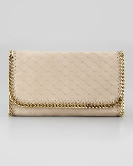 Stella McCartney Falabella Flap-Top Clutch Bag, Bamboo