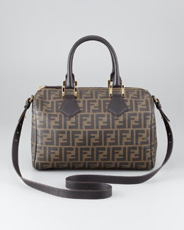 Fendi Zucca Canvas Boston Bag