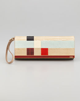 Fendi Rush Colorblock Clutch Bag