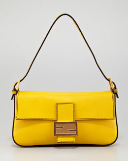 Fendi Leather Baguette Bag, Chantilly