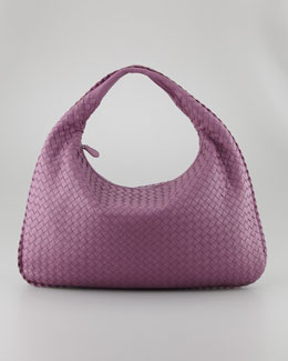 Bottega Veneta Veneta Large Hobo Bag, Purple