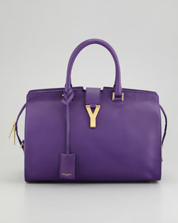 Saint Laurent Y Ligne Medium Soft Leather Bag, Amethyst