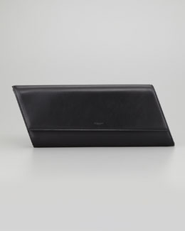 Saint Laurent Diagonale Leather Clutch Bag, Black