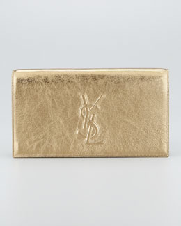 Saint Laurent Metallic Belle du Jour Clutch Bag, Pale Gold