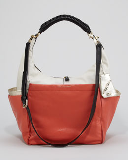 Diane von Furstenberg Franco Colorblock Hobo Bag