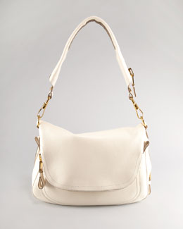 Tom Ford Large Jennifer Flap-Top Bag, Beige
