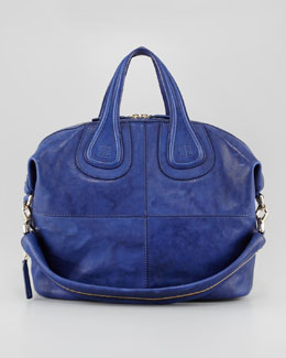 Givenchy Nightingale Medium Zanzi Satchel Bag, Royal
