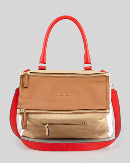 Givenchy Pandora Medium Colorblock Satchel Bag